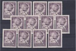 Österreich 1947: ANK 846, 100 Jahre Telegraphie In Österreich, 12 Stück, ANK 6.- €