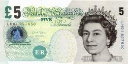 GREAT BRITAIN 5 POUNDS 2002 (2012) P-391d UNC SIGN: C. SALMON  [GB391d] - 1952-… : Elizabeth II