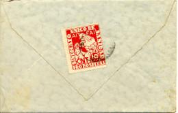 """1937 """" CNT AIT FAI Pro Hospital """" Sobre Carta, Ambulante. Ver 2 Scan - Viñetas De La Guerra Civil"""