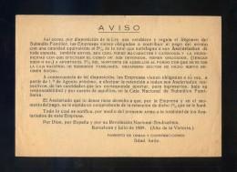 *Fomento De Obras Y Construcciones. 1939* Impreso. Meds: 108 X 157 Mms. - Publicidad