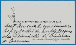 Carte Visite Faire-Part Noblesse Cte Ctesse DE L'ESTOILE 78 Versailles Fiançailles Jacques & Melle Du Buisson De Courson - Verloving