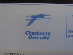 16973- EMA Ville De Cherbourg Octeville Sur Enveloppe à En-tête Idem, Thème Albatros, Obl.