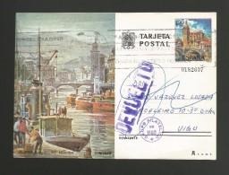 Espagne Entier Postal Repiqué Renvoyé à L'expéditeur 1976 Vigo Spain Postal Stationery Returned To Sender