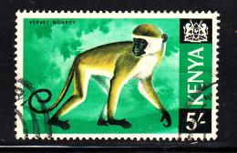 Kenya Used Scott #33 5sh Vervet Monkey - Kenya (1963-...)