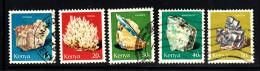 Kenya Used Scott #98-#102 Minerals: Gypgum, Trona, Kyanite, Amazonite, Galena - Kenya (1963-...)