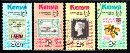 Kenya Used Scott #154-#157 Set Of 4 Sir Rowland Hill, Originator Of Penny Postage - Kenya (1963-...)