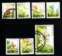 Kenya Used Scott #247-#253 Flowers - Kenya (1963-...)