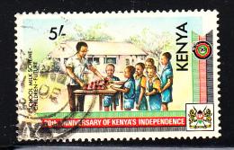 Kenya Used Scott #285 5sh School Milk Program - 20th Ann Independence - Kenya (1963-...)