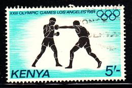 Kenya Used Scott #299 5sh Boxing - 1984 Summer Olympics - Kenya (1963-...)
