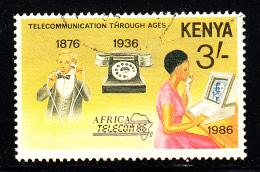 Kenya Used Scott #381 3sh Telecommunications - Kenya (1963-...)