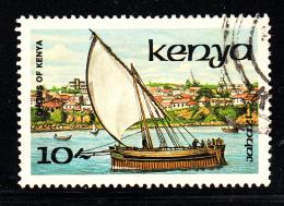 Kenya Used Scott #387 10sh Jahazi - Dhows Of Kenya - Kenya (1963-...)