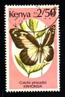 Kenya Used Scott #432 2.50sh Colotis Phisadia - Kenya (1963-...)