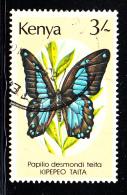 Kenya Used Scott #433 3sh Papilio Desmondi Teita - Kenya (1963-...)