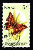 Kenya Used Scott #436 5sh Charaxes Aruceanus Teita - Kenya (1963-...)