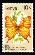 Kenya Used Scott #438 10sh Charaxes Zoolina - Kenya (1963-...)