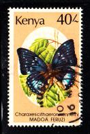 Kenya Used Scott #440 40sh Charaxescithaeronkennethi - Kenya (1963-...)