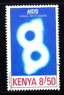 Kenya Used Scott #561 8.50sh AIDS Casual Sex Is Unsafe - Kenya (1963-...)