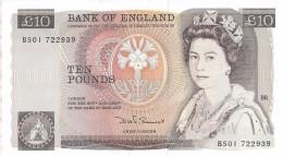 GREAT BRITAIN 10 POUNDS ND (1984) P-379c AU SIGNATURE: D.H.F. SOMERSET  [GB379c] - 1952-… : Elizabeth II