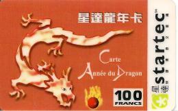 CARTE§ PREPAYEE-STARTEC-100F-CARTE ANNEE Du DRAGON-01/03/2001-TBE - Frankrijk