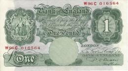 GREAT BRITAIN 1 POUND ND (1949) P-369b AU/UNC  [GB369b] - …-1952 : Before Elizabeth II