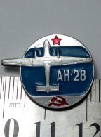 Airplane Antonov An-28 Soviet Union Metal Badge Pin USSR Aviation Avia AEROFLOT Aluminium - Airplanes
