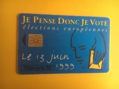 Je Pense Donc Je Vote élections Européennes 1999 - France