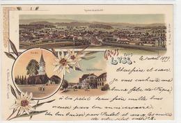 Gruss Aus Lyss - Bahnhofstrasse - Litho - 1899     (P7-40712) - BE Berne