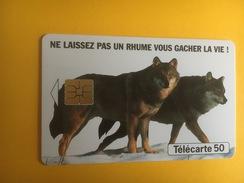 France Loups Publicité Pour Les Gélules Humex Fournier - Télécartes