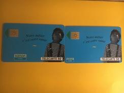 France Publicité Sanofi 2 Cartes Logos Différents - Advertising