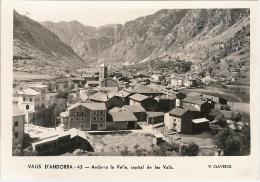 CPSM Andorre - Valls D'Andorra - Andorra La Vella, Capital De Les Valls - Andorre