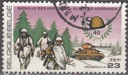 Belgique 1985 COB 2187 O Cote (2016) 0.60 Euro La Bataille Des Ardennes Cachet Rond - Oblitérés