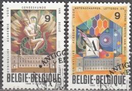 Belgique 1988 COB 2296 - 2297 O Cote (2016) 0.60 Euro 50 Ans Académies Des Sciences Et Beaux-arts Cachet Rond - Oblitérés