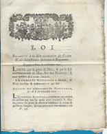 Révolution - Loi Concernant La Libre Circulation Des Grains...  1791 - Postmark Collection (Covers)