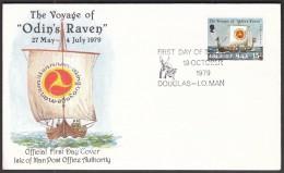Isle Of Man 1979 / The Voyage Of 'Odin's Raven / Sailing Ship / Vikings - Bateaux