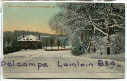 - Canada - Quebec - Winter Scene On Mont  Montréal, Neige, Glacée, écrite, 1914, BE, Scans. - Montreal
