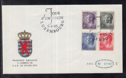 8702  ) Luxemburg FDC 1965 - Freimarken Großherzog Jean - Luxembourg