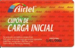 CARTE§ PREPAYEE-AIRTEL-CUPON CARGA INITIAL-1/10/2000-TBE - Airtel