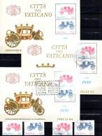 Post-Kutsche EXPO Italia 1985 Vatikan 880/1,ZD+Block 8 **/o/SST 20€ Blocs Art Ms Sheets Philatelic Se-tenants Bf Vatican - Blocks & Sheetlets & Panes