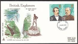 Great Britain Blantyre Glasgow 1973 / British Explorers / David Livingston, Henry Stanley / Victoria Falls