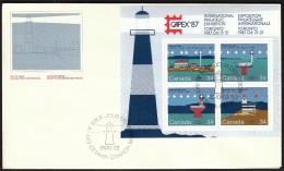 Canada Ottawa 1985 / International Philatelic Exhibition CAPEX / Canadian Lighthouses - Lighthouses
