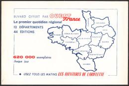 BUVARD OUEST FRANCE - Buvards, Protège-cahiers Illustrés