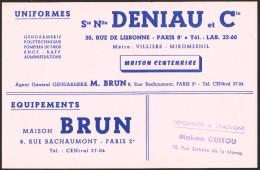 BUVARD DENIAU Equipement Gendarmerie Et Uniformes - Buvards, Protège-cahiers Illustrés