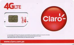 Lote TT229, Peru, Tarjeta Telefonica, Phone Card, Claro, SIM Card, 4 G - Colombia