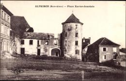 Cp Altkirch Elsaß Haut Rhin, Place Xavier Jourdain - Autres Communes