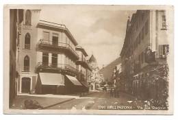 CARTOLINA DI BELLINZONA ( CANTON TICINO )  - VIA ALLA STAZIONE , 1924 . - TI Ticino