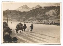POST CARD PFERDERENNEN IN ST. MORITZ , 1930 . - GR Grisons