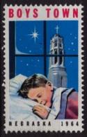 Cathedral  - Boys Town - Nebraska - Charity Stamp / Label / Cinderella - USA 1964