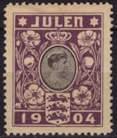 Queen Louise Of Hesse-Kassel - CHRISTMAS / JUL JULEN - LABEL / CINDERELLA / VIGNETTE - 1904 Denmark - Familles Royales