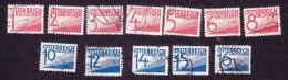Austria, Scott #J132-J143, Used, Postage Due, Issued 1925 - Portomarken