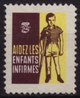 Crutch - FIGHT Crippling - Easter Seals - 1958 Canada / Charity Label Vignette Cinderella - Lily
